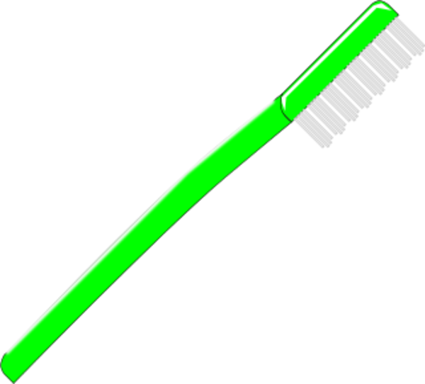 Toothbrush Vector Clip Art.