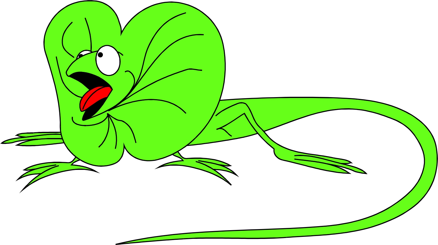 Cartoon lizard clipart.