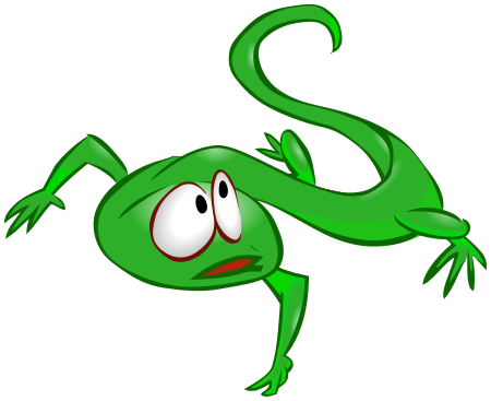 Green Lizard Clip Art.