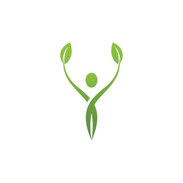 Human Character Sign Health Care Logo Nature Logo Sign Green.