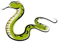 Green mamba snake clipart.