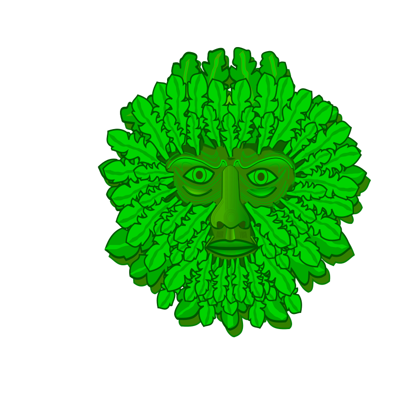 Free Clipart: Green Man.