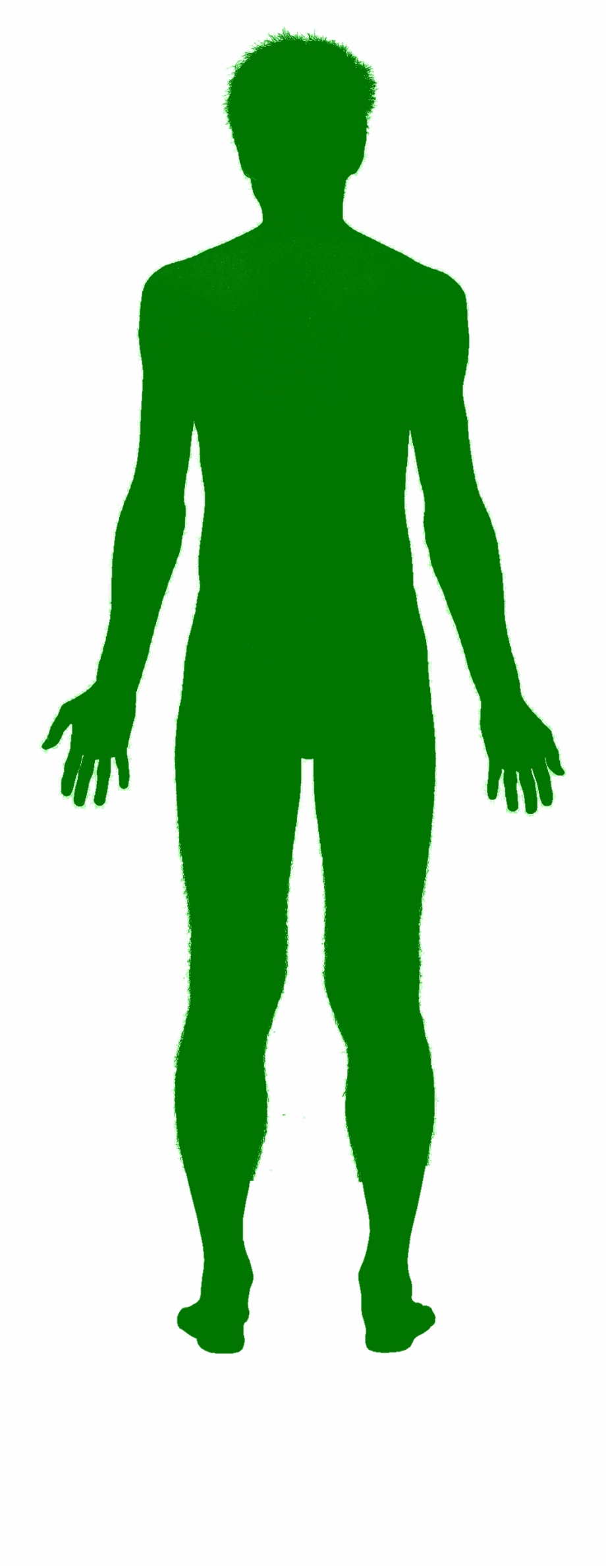 Green Man Shadow Human Body Outline Png.