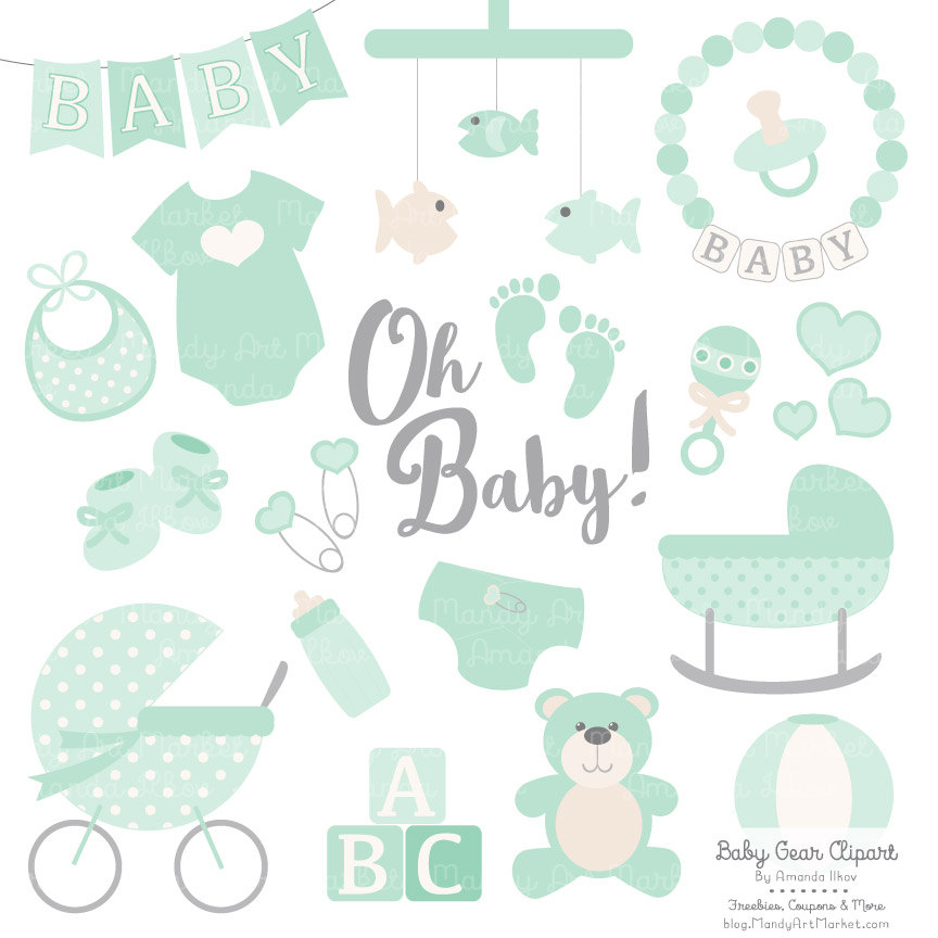 Premium Baby Clipart & Vectors in Mint Green Mint Baby Clip.
