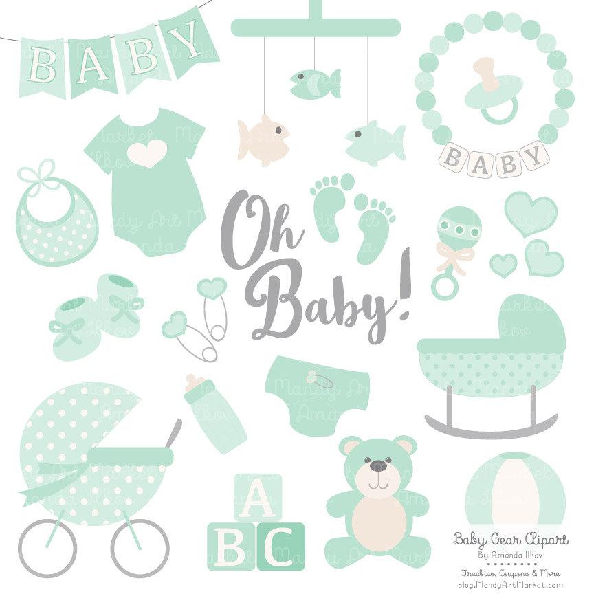 Premium Baby Clipart & Vectors in Mint Green Mint Baby Clip.
