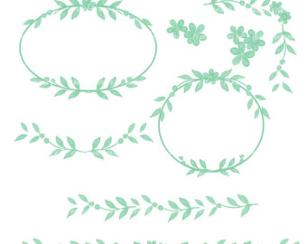 Mint flower clipart.