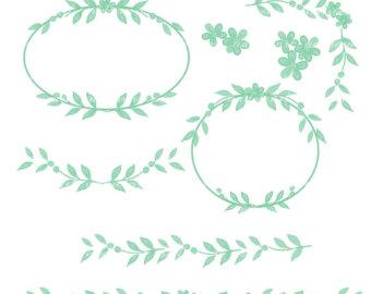 Mint flower clipart.