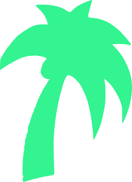 Palm Tree Green Mint Clip Art at Clker.com.