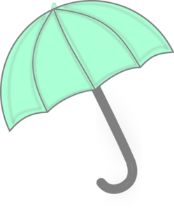 Mint Green Umbrella Clip Art at Clker.com.