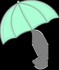 Mint Green Umbrella Clip Art at Clker.com.