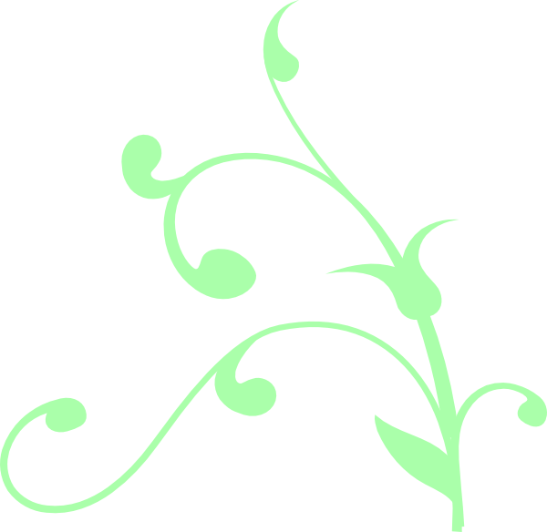 Mint Green Swirl Clip Art at Clker.com.