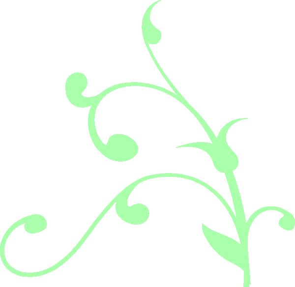 Mint Green Swirl Clip Art at Clker.com.
