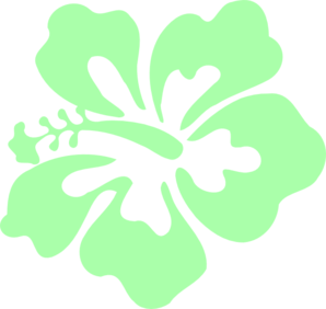 Hibiscus Mint Green Clip Art at Clker.com.