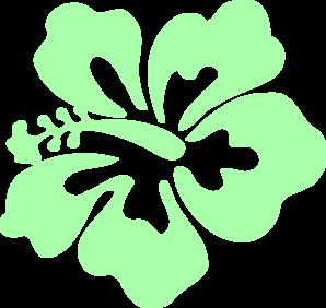 Hibiscus Mint Green Clip Art at Clker.com.