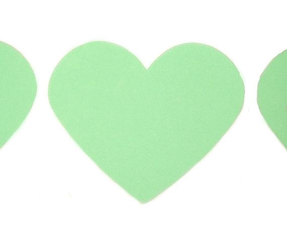 Mint green heart clipart.