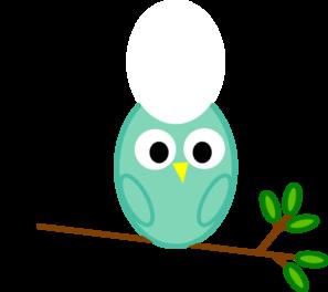 Mint Owl Clip Art at Clker.com.