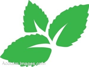 Green Mint Leaves Clip Art.
