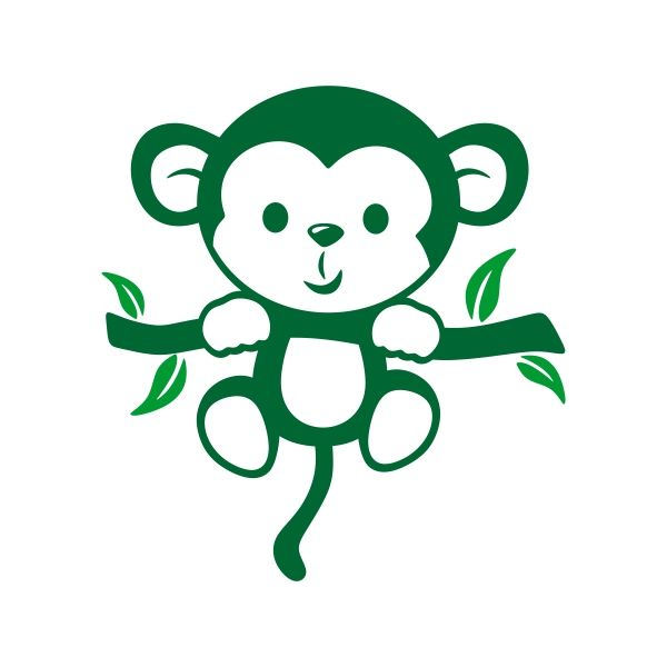Monkey Silhouette Logo.