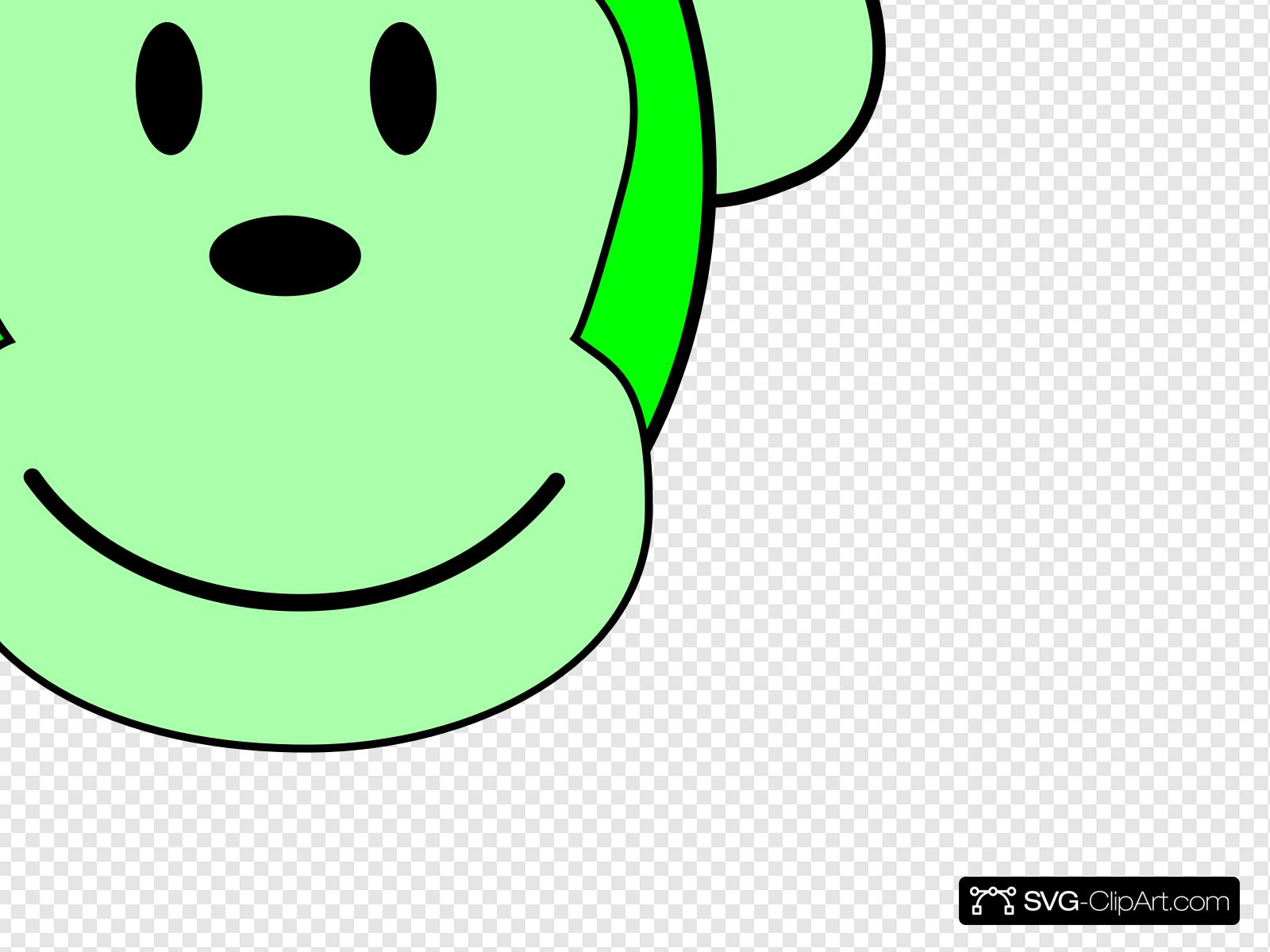 Green Monkey Clip art, Icon and SVG.