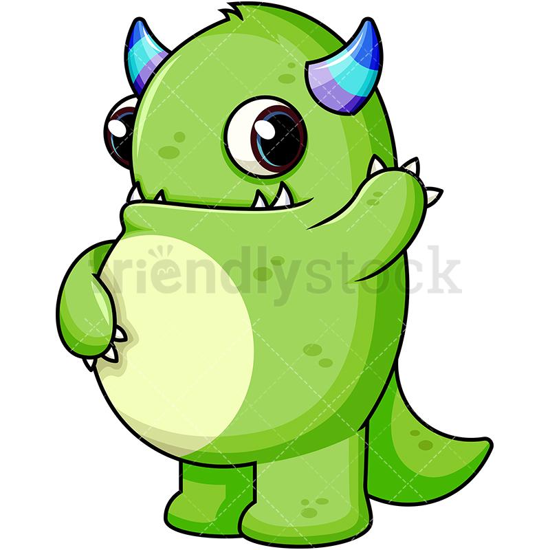 Cute Green Monster.