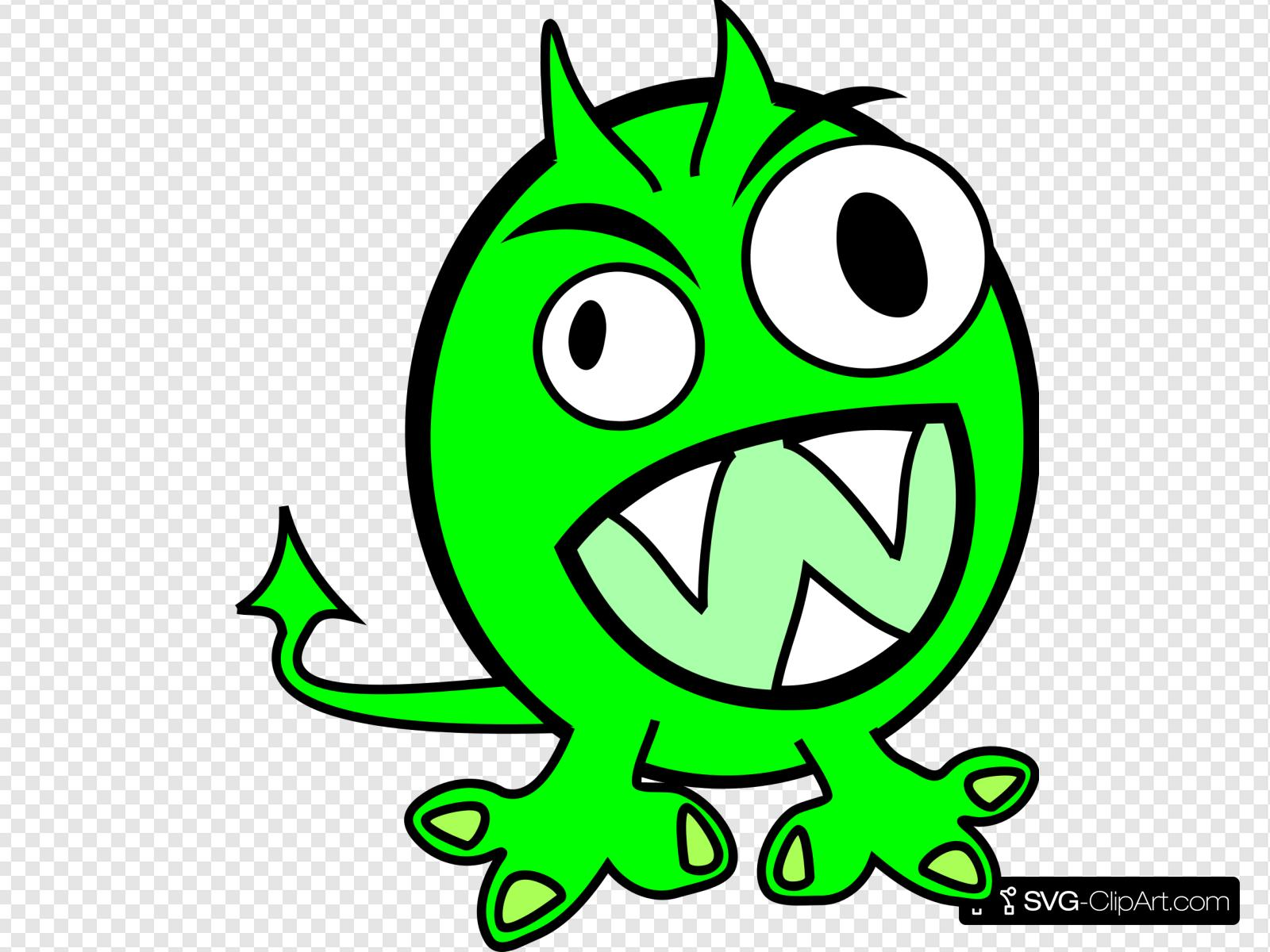 Green Monster Clip art, Icon and SVG.