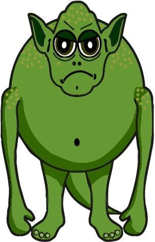 Free Green Monster Clipart.