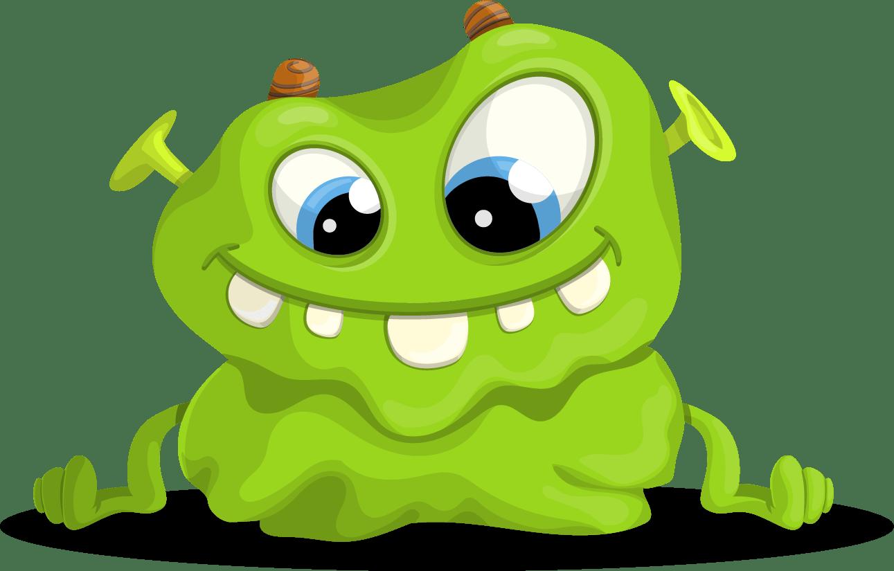Green Monster Vector Character.