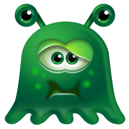 Sick Green Monster Icon, PNG ClipArt Image.