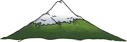 Green mountain clipart.