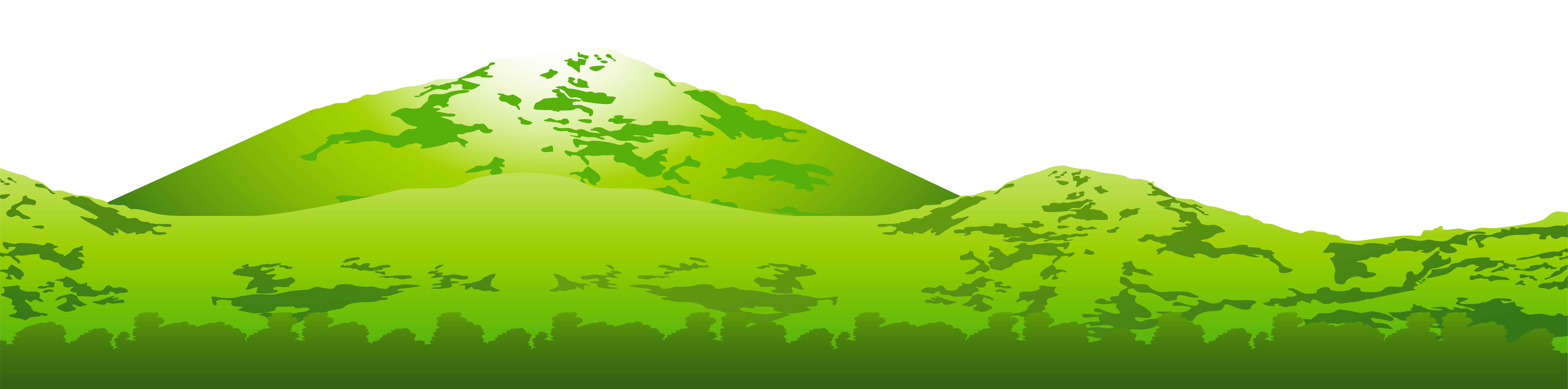 Green Mountain Transparent PNG Clip Art Image.