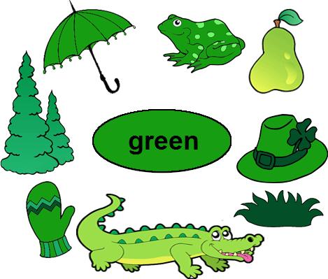 Color Green Worksheets for Kindergarten.