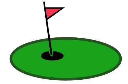 Golf green clipart.