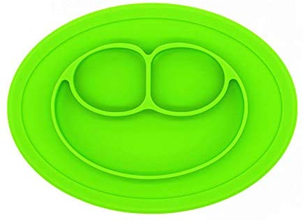 Eazy Kids Green Oval Plate.