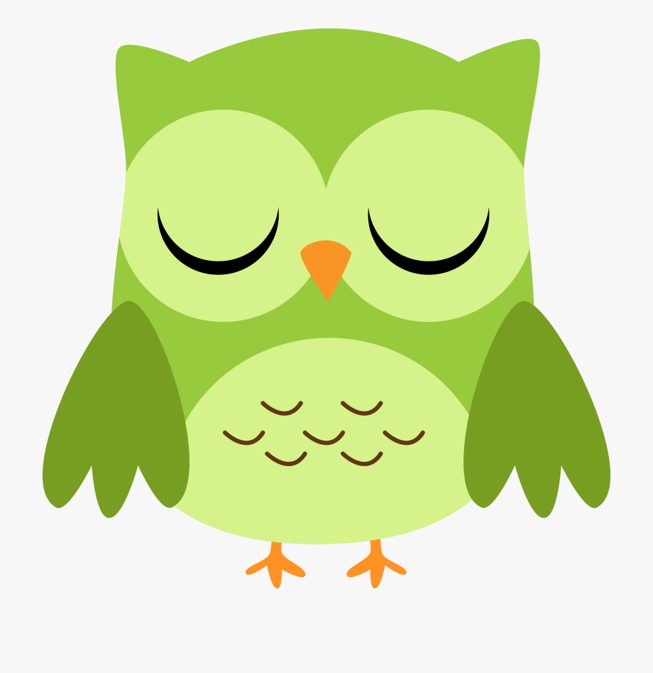 28 Collection Of Cute Green Owl Clipart.