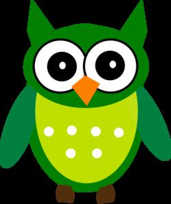 Green Owl Clip Art at Clker.com.