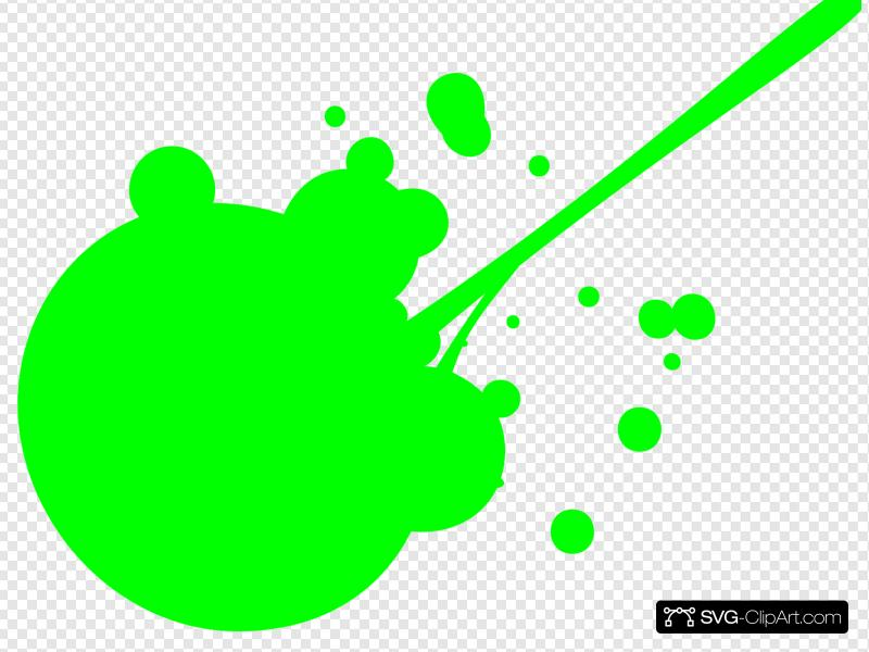 Green Paint Splatter Clip art, Icon and SVG.
