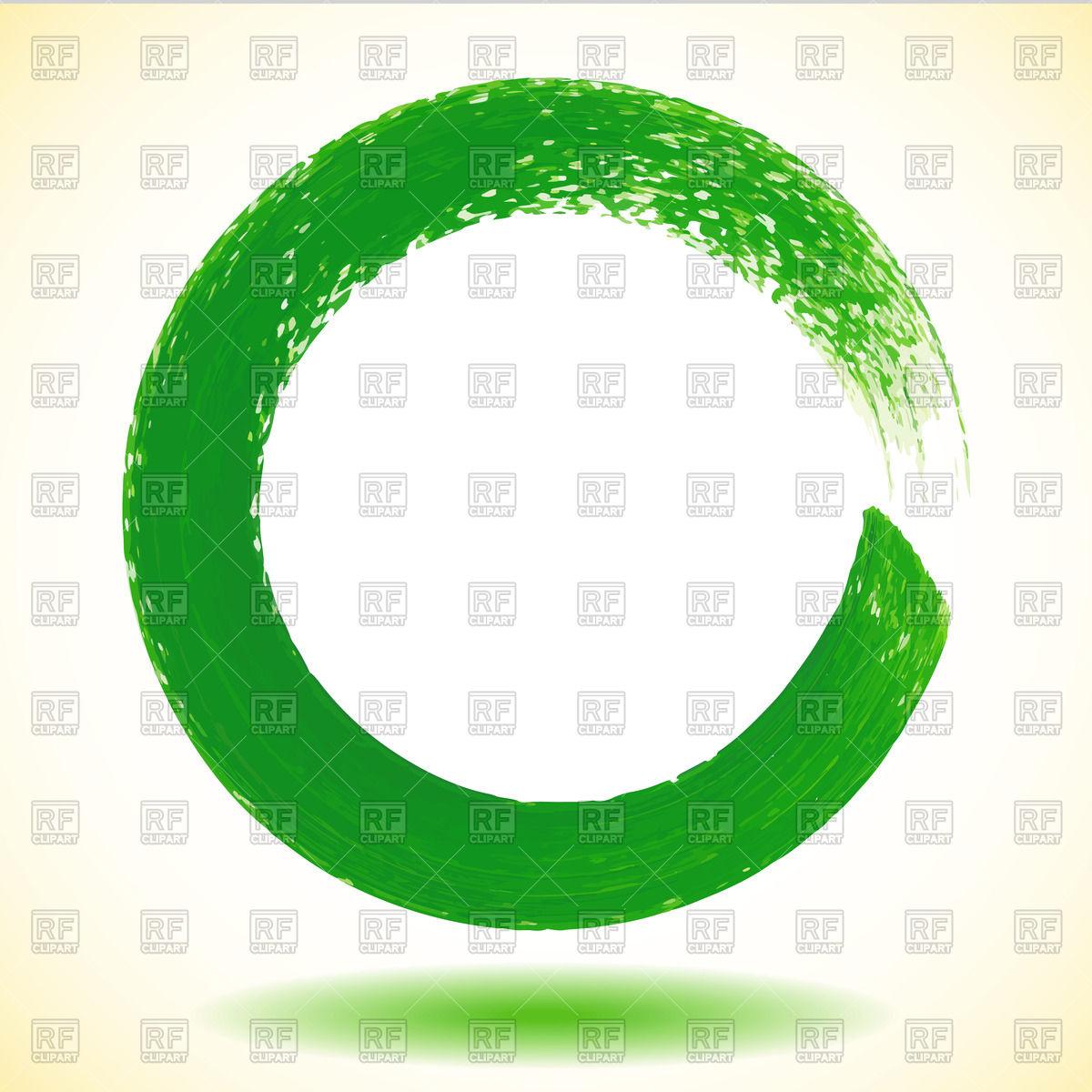 Green paintbrush circle.