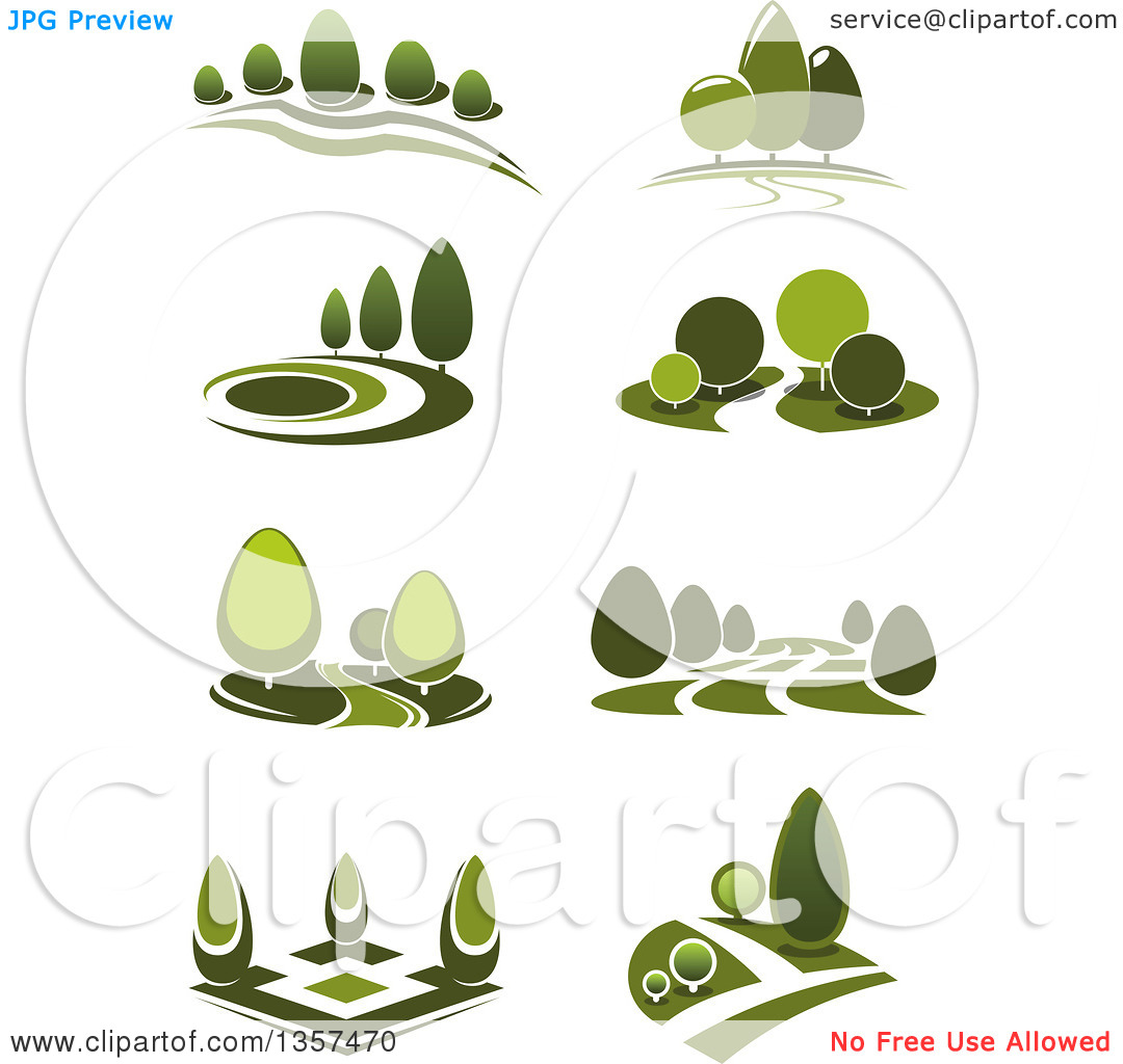 Clipart of Green Park Landscapes.
