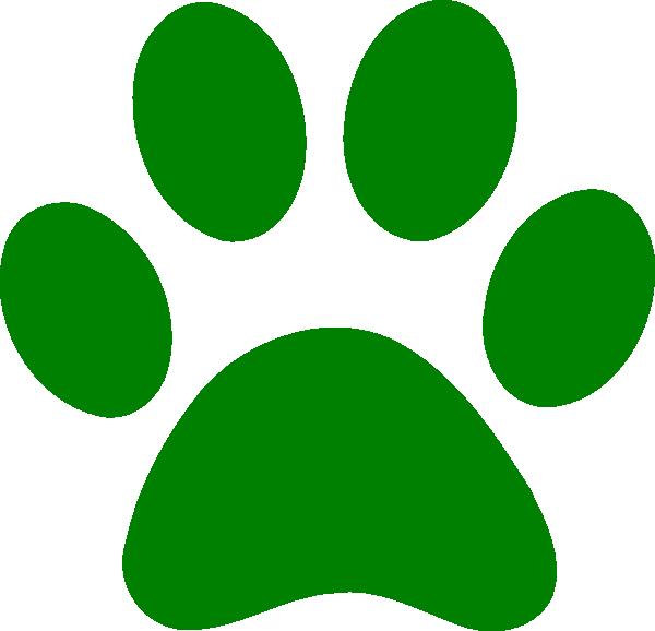 Green Paw Clip Art At Clker.com Vector Clip Art Online.