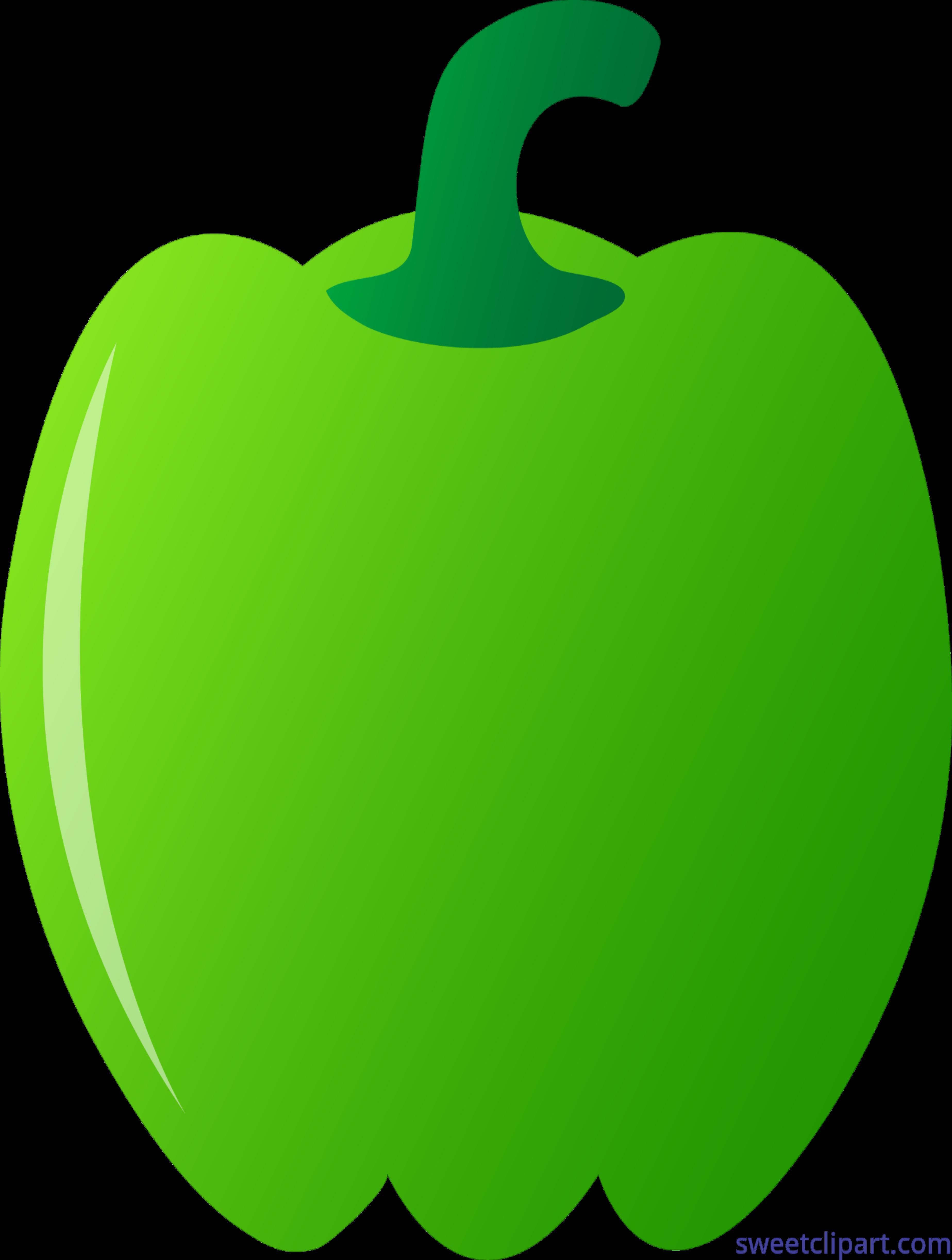 Green Bell Pepper Clip Art.