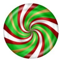 Christmas Peppermint Candy Clipart.