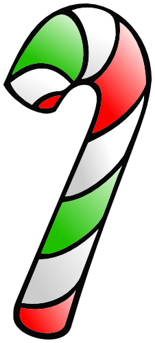 Red and Green Candy Cane Clip Art: Single. A great two color.