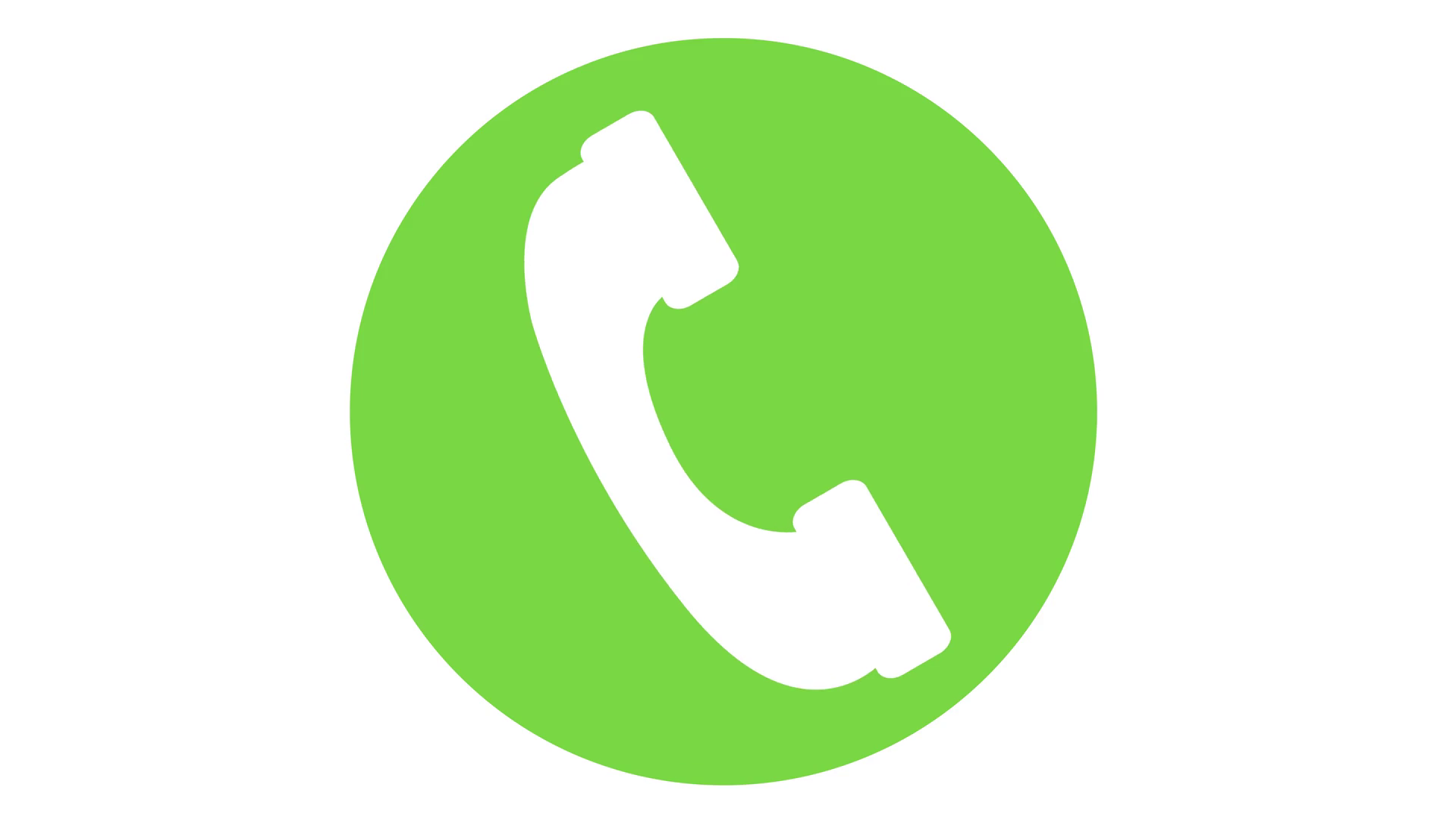 cell phone icon incoming call symbol looping animation Green Motion  Background.