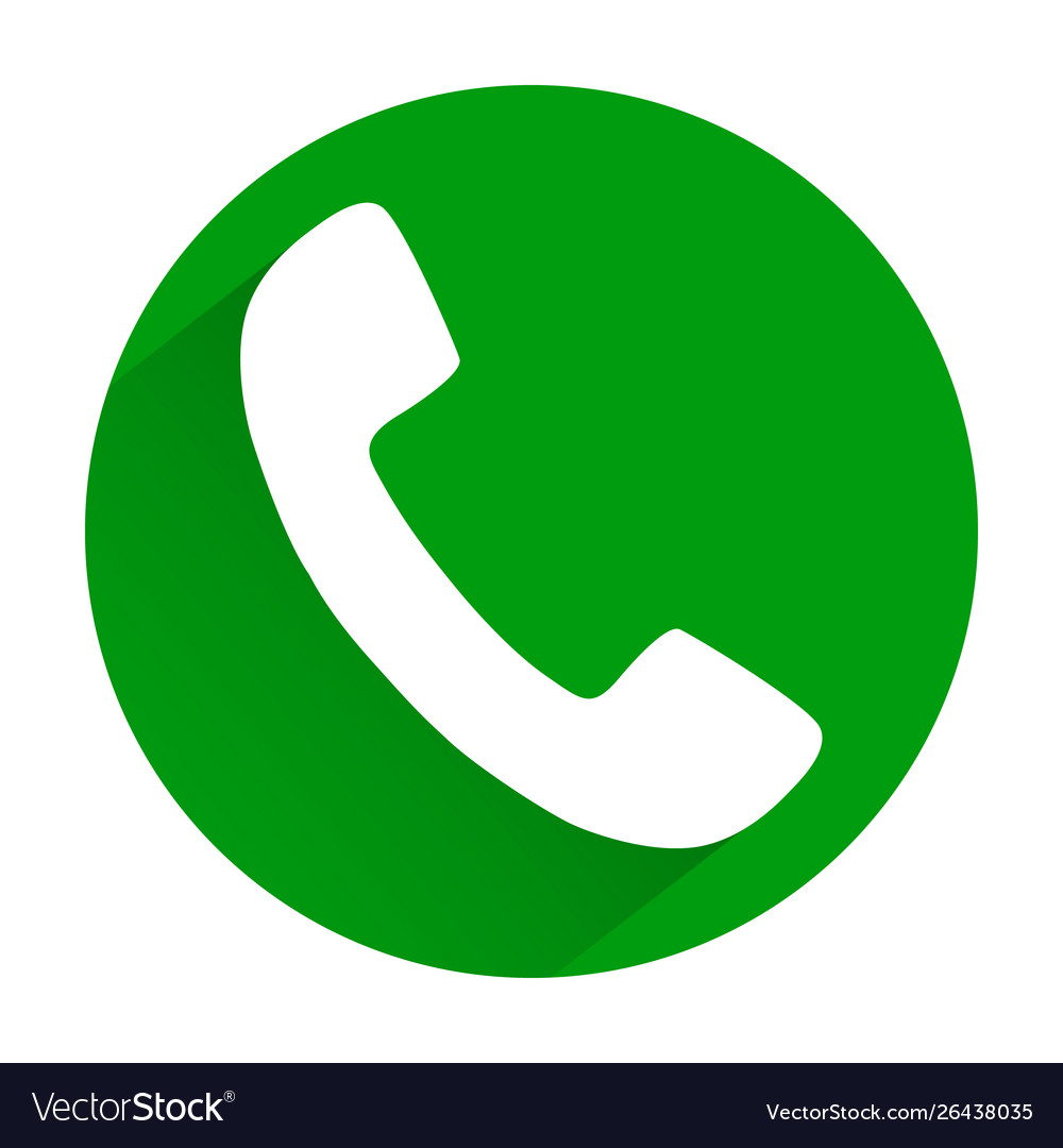 Phone icon on green button eps 10.