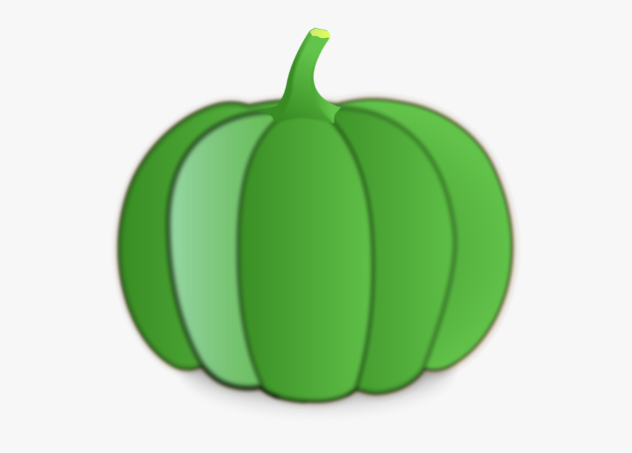 Green Pumpkin Clipart.