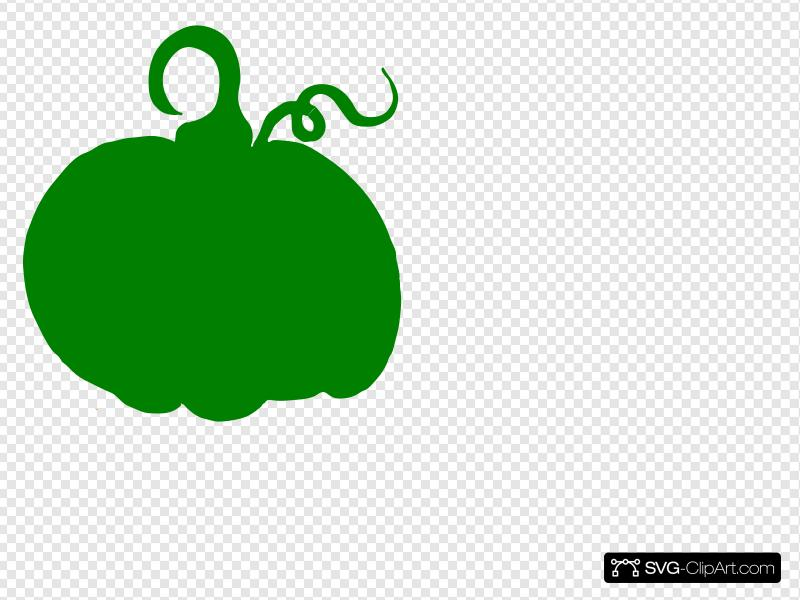 Green Pumpkin Clip art, Icon and SVG.