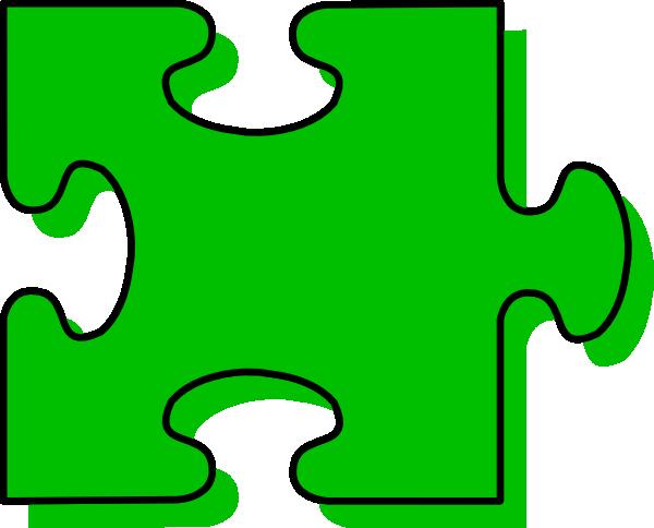 Green Puzzle Piece Clip Art at Clker.com.