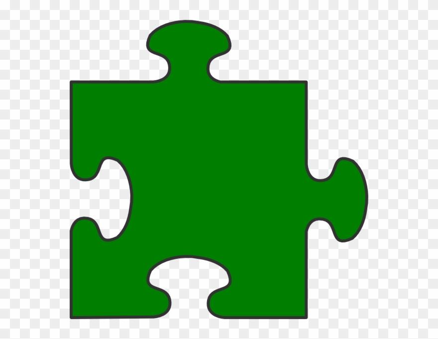 Blue Border Puzzle Piece Top.