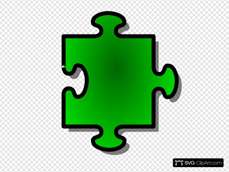 Jigsaw Green Puzzle Piece Clip art, Icon and SVG.