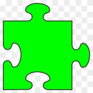 Blue Border Puzzle Piece Top Clip Art At Clker.